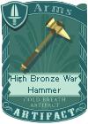 High Bronze War Hammer
