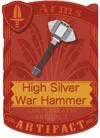 High Silver War Hammer