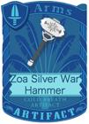 Zoa Silver War Hammer