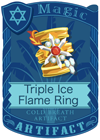 Triple Ice Flame Ring