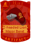 2-headed Lion Major Beret