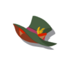 Red Cat Silk Hat(Green)
