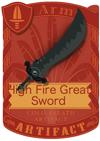 High Fear Great Sword