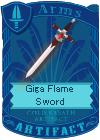 Giga Flame Sword