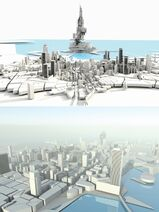 Ранний макет Города и Шарда