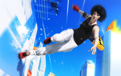 Mirror's Edge - Faith performing a wall run