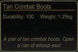 Tan Combat Boots Tooltip