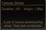 Canvas Shoes Tooltip