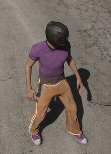 Orange Track Pants