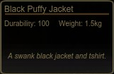 Black Puffy Jacket Tooltip