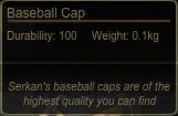 Baseball Cap Tooltip