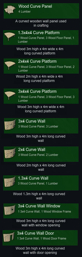 Curved parts