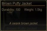 Miscreatedpuffyjacketbrowninfo