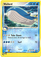 Wailord premiere card