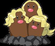Dugtrio alolan anime model