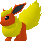 Flareon pokedex 3D