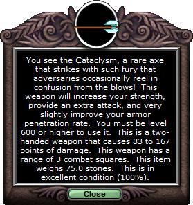 Test axe cataclysm