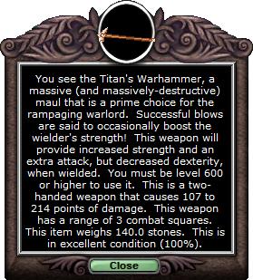 Test maul titanwarhammer