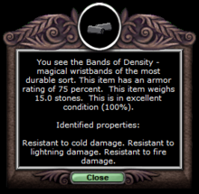Density wrists