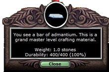Admantium Bar