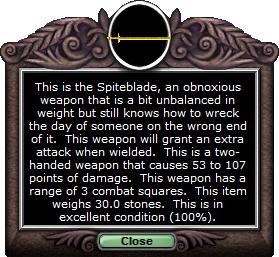 Test 2handsword spiteblade