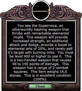 Test mace supernova