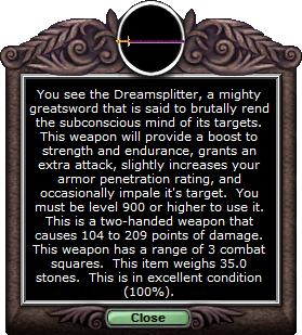Test 2handsword dreamsplitter