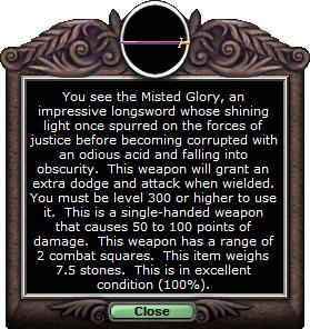 Test longsword mistedglory