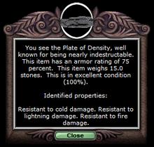 Density chest