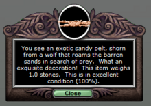Exotic Sandy Pelt