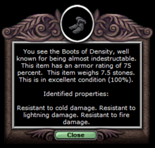 Density boots