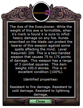 Executioner's axe t