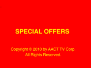Special Offers title card (with AACT notice)