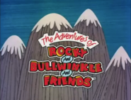 The Adventures of Rocky and Bullwinkle and Friends logo on a mountain