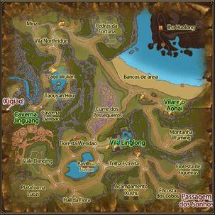 Mapa do Cume dos Pessegueiros