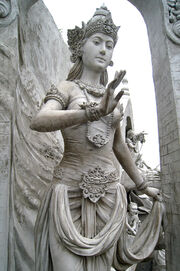 Statue of Goddess or Queen at Monas
