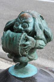 Sakaiminato Mizuki Shigeru Road Makuragaeshi Statue 1