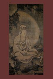 Guan Yin in white robe, by Mu-ch'i