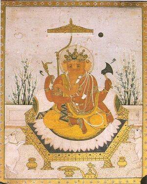 Ganesha Nurpur miniature circa 1810 Dubost p64