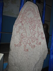 Rune stone dr 284 of the hunnestad monument in lund sweden 2008