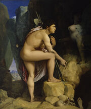 Jean-Auguste-Dominique Ingres - Oedipus and the Sphinx - Walters 379