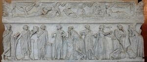 Muses sarcophagus Louvre MR880
