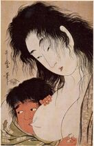 Utamaro Yama-uba and Kintaro (with a Wine Cup)