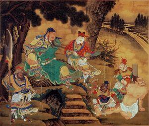 Shang Xi, Guan Yu Captures General Pang De