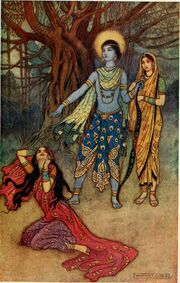 Rama Spurns Suparnakha by Warwick Goble