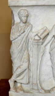 Calliope sarcophagus Louvre Ma475