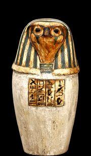Canopic jar Depicting Qebehsenuef