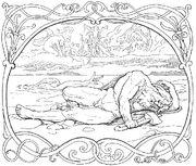 La muerte de Thor y Jörmungander Frølich