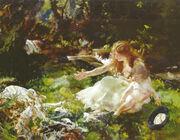 Charles Sims - and the fairies ran away