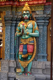 A Hanuman sculpture in Singapore